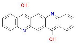 Pigment-violet-19-Molekulêre-struktuur